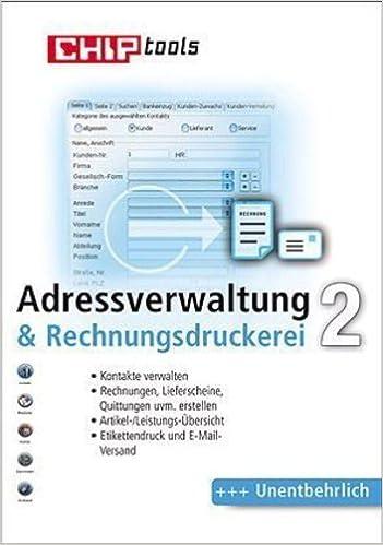 Adressverwaltung Rechnungsdruckerei 2 Cd Rom Kontakte Verwalten