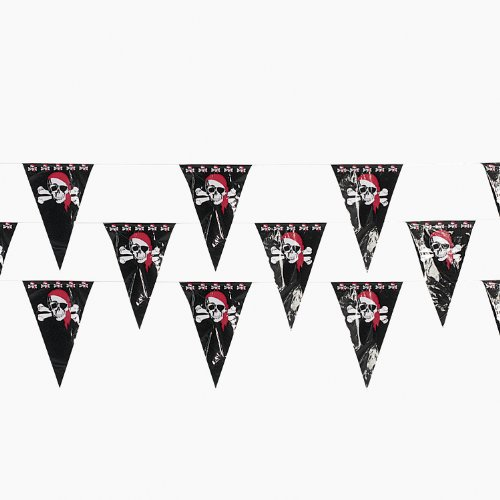 Pirate Pennant Banner Plastic Pennants