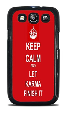 Trendy Keep Calm Phone Case Black Hardshell Case for Samsung Galaxy S3