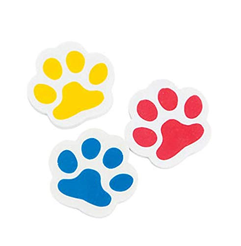 Assorted Notepads Value Pack of 36 Paw Print Party Favor Pencils and Erasers