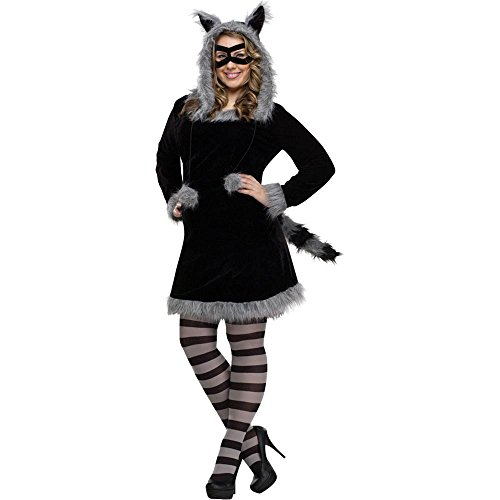 Racy Raccoon Adult Costume - Plus Size -