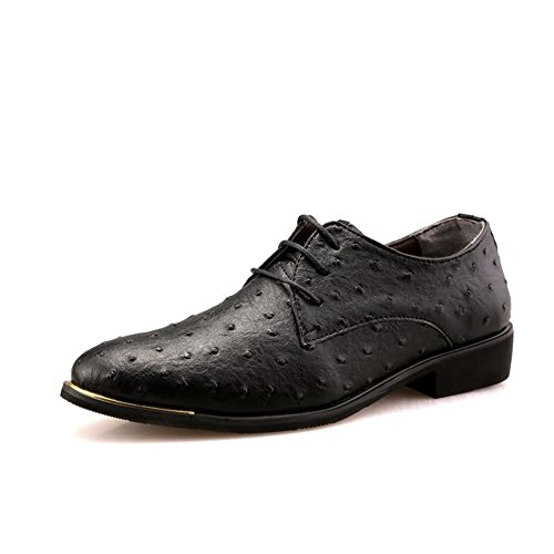 Shoes Suit Casual HUAN Formal Oxfords Dress Red Office Wedding Men's Blue Shoes Leather C Business Black qqUvPwA