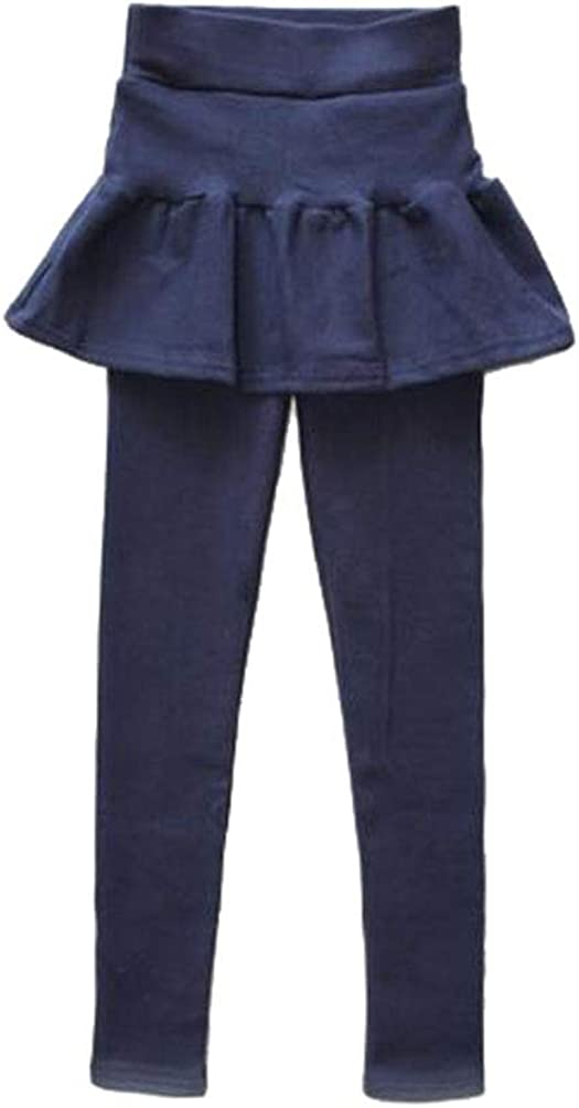 Suncaya Bambini Ragazze Leggings in Foderati Pantaloni Invernali Lunghi Elasticizzati Pantalone E Gonna