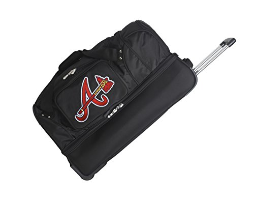 MLB Atlanta Braves Rolling Drop-Bottom Duffel by Denco