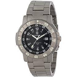 Smith & Wesson Men's SWW-357-T-BLK Executive Tritium H3 Titanium Strap Watch