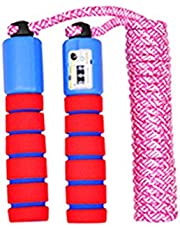 J-FEIFEI Adjustable Jump Speed Rope with Counter and Anti Slip Handle