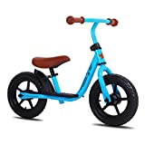 JOYSTAR 12 inch Balance Bike for 2 3 4 5 Year Old Boys & Girls, Child Glider Bicycle Without Pedal, Pedaless Cycle for Children, Blue