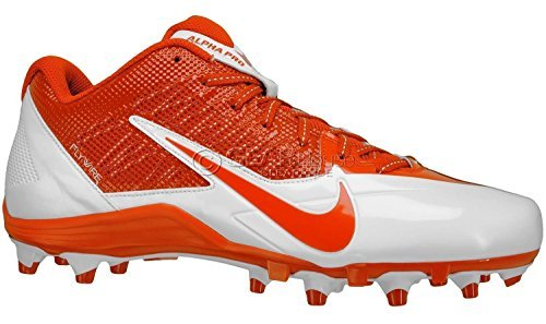 Nike Alpha Pro TD Football Cleats (12, Orange/White) (Cam Newton Cleats White)