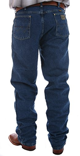 Wrangler Men's Tall George Strait Cowboy Cut Jean Relaxed fit, heavy weight Stonewashed,33 x 38