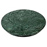 rs handicraft and marbles Marble Chakla Roti Maker Rolling Board (10 Inch, Green)