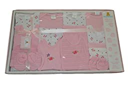 Big Oshi Baby 15-Piece Layette Gift Set, Pink, 0-3 Months