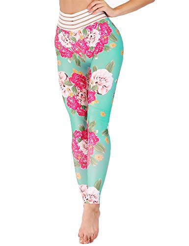 Hioinieiy Fabletics Sexy Leggings for Women Butt Lifting High Waisted Sport Gym Running Spandex Cute Yoga Pants Green L