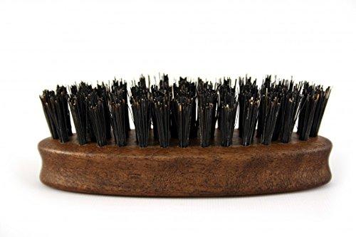 RAZZOOR Brosse à barbe ovale en noyer, aux poils naturels
