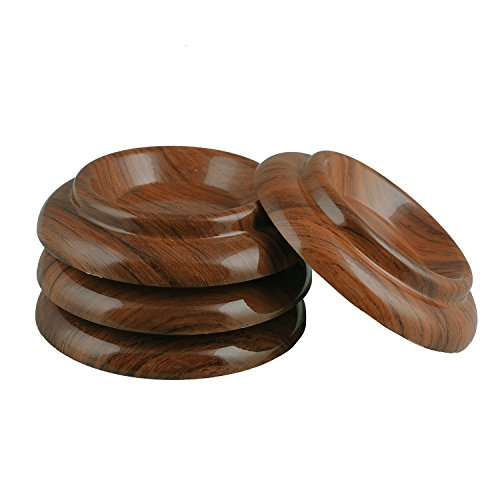 Sound harbor PA-9 ABS Plastic Material,Upright Piano Caster Cups, Piano Caster Pads,Piano non-slip mat,Vertical piano Caster Cups,Furniture Caster Cups Set of 4 (Rosewood Color )
