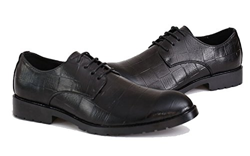 MHB Men's Lattice Pattern Genuine Brogue Leather Shoes Low British Style Oxfords Tuxedo 8.5in - Triathalon British