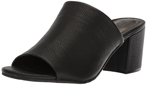 N Women's Mass-ter Mind Open Toe Mule Heeled Sandal, Black, 8 M US (Heel Leather Mule)