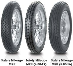 Avon Tyres Safety Mileage MkII Tire - Rear - 4.00S-19, Speed Rating: S, Tire Type: Street, Tire Construction: Bias, Tire Size: 4.00-19, Position: Rear, Rim Size: 19, Load Rating: 65