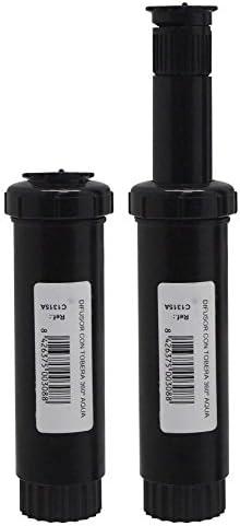 Aqua Control Difusor con tobera 25º-360º Agua básico, con 5 cm de Emergencia, C1315A: Amazon.es: Jardín