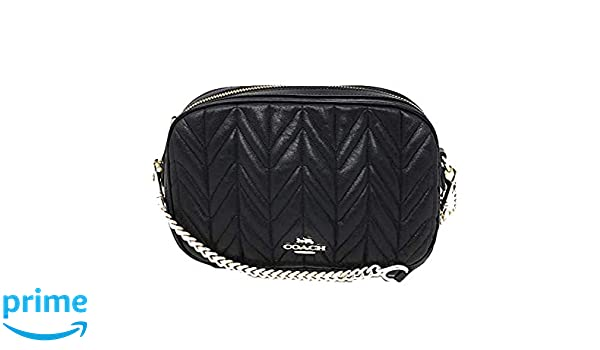 ec9c77ad303ca Coach Isla Chain Crossbody With Quilting (Black Light Gold)  Handbags   Amazon.com
