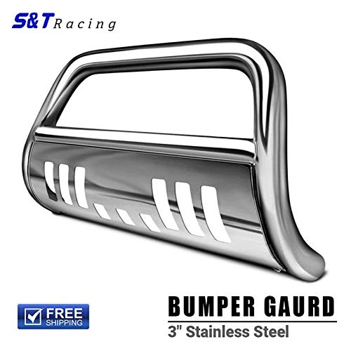 S&T Racing Stainless Steel Chrome Bull Bar Brush Push Bumper Grill Grille Guard 05/06-10 Hummer H3/H3T ()