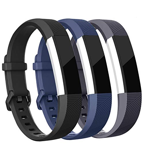 Vetoo Band Compatible for Alta HR/Alta Straps, Soft Adjustable Replacement Band Accessory with Secure Watch Clasps, Pack of 3