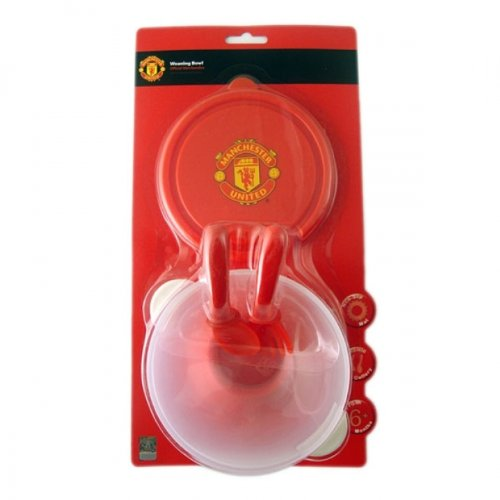 Manchester United FC Official Baby Weaning Feeding Bowl /& Cutlery