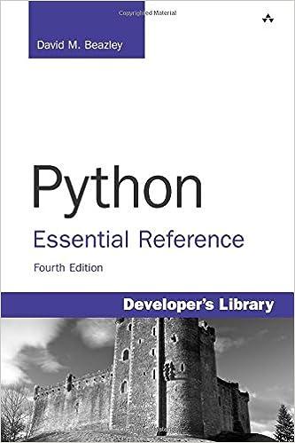 python essential reference 4th edition david beazley