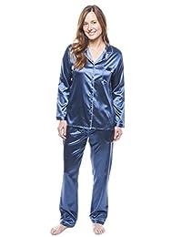 Twin Boat Women's Satin Pajama/Sleepwear Set