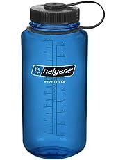 NALGENE BPA Free Tritan Wide Mouth Water Bottle, 1-Quart, Slate Blue with Black cap