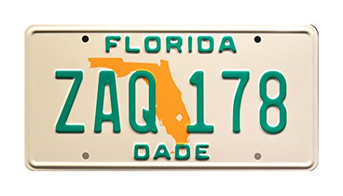 Celebrity Machines Miami Vice | Sonny Crockett's Ferrari Daytona Spyder 365 GTS/4 | Florida ZAQ 178 | Metal Stamped Vanity Prop License Plate by Celebrity Machines