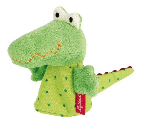 sigikid, Jungen und Mädchen, Fingerpuppe Krokodil, Theaterpuppe, Grün, 40379