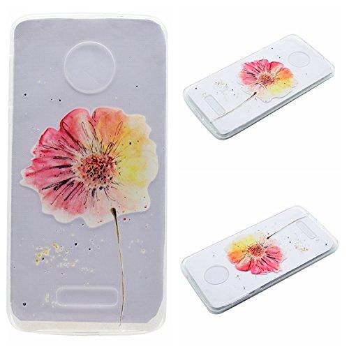 Qiaogle Teléfono Caso - Funda de TPU silicona Carcasa Case Cover para Xiaomi HongMi 3 / Redmi3 Red Rice 3 (5.0 Pulgadas) - MM05 / Mariposa niña MM09 / Grande Flor