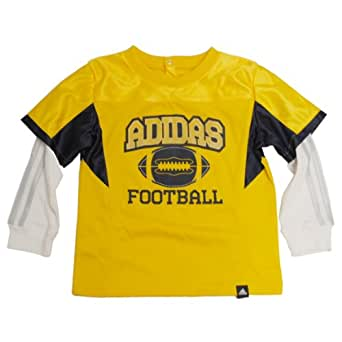 Adidas Little Boys' Long-Sleeve Football Jersey (Yellow 3T)