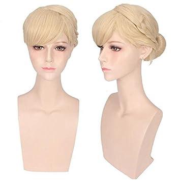Amazon.com   Kuulee Womens Braids Updo Style Lolita Harajuku Cute Cosplay  Wig Blonde   Beauty 813432b4e310