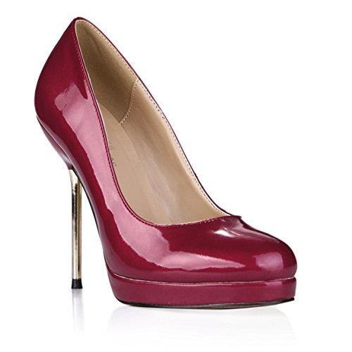 Chaussures Cuir Femmes Repasser Dîner Seul Le À Verni Wine Rouge Fer Talon Les Red Haut Nouveau Avec Vin Chaussure En Xtgtv
