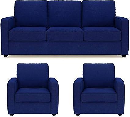 Prime Market Space Fabric 3 1 1 Royal Blue Sofa Set Amazon In Inzonedesignstudio Interior Chair Design Inzonedesignstudiocom