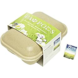 Paw Pods Pet Casket | Biodegradable Pet Grave Pod with Sympathy Card and Seeded Leaf | Plant The Seed for A Living Memorial Pet Grave Marker (Medium Pod)