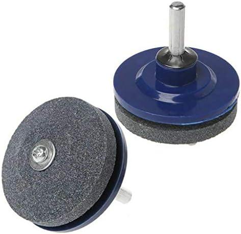 Ouneed - 2pcs Schleifgerät Rasenmähermesser Schleifschnitte Sharpener Faster Blade Garden Tools Rasenmäher Universal-Drehbohrmaschine für Bohrmaschinen und Handbohrmaschinen (50 mm)