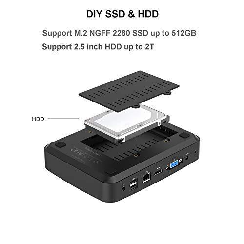 4GB RAM 128GB NVMe SSD up to 2.24Ghz 1000M LAN Quad Core Mini Computer BT4.2 GN31 Mini PC Intel Celeron J3160 Processor 4K HDMI/&VGA Port Support Windows 10 Pro//Auto Power On//WOL 2.4//5G WiFi