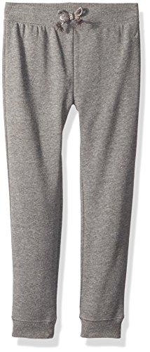 Super Soft Fleece Pants (Nautica Little Girls' Super Soft Fleece Pant With Metallic Rope Tie, Medium Grey Heather, 6)