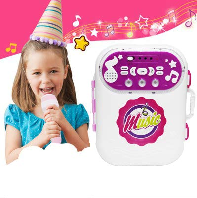 Happytime Kid Karaoke Speaker Machine - Portable Music Storage Box with Microphone for Children Kids by Happy Time (Image #2)