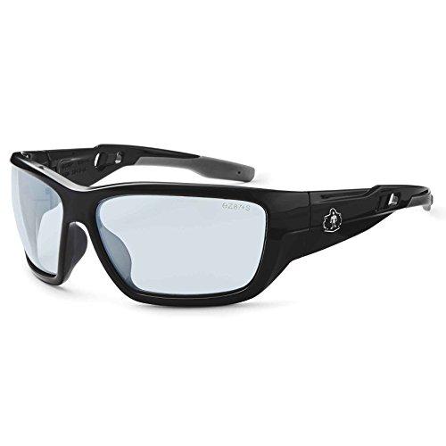 - Ergodyne Skullerz Baldr Anti-Fog Safety Glasses- Black Frame, In/Outdoor Lens
