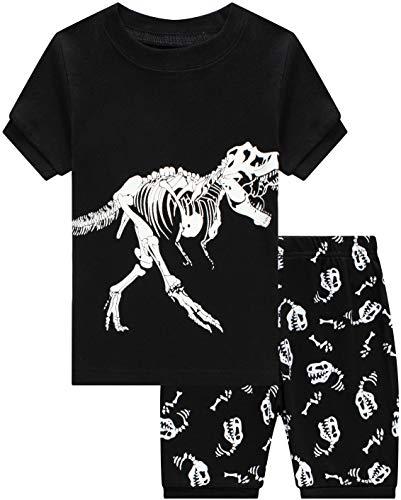 Dinosaur Pajamas for Boys Summer Baby Clothes Kids Short Pj Set Children 2 Pieces Sleerwear 7t -