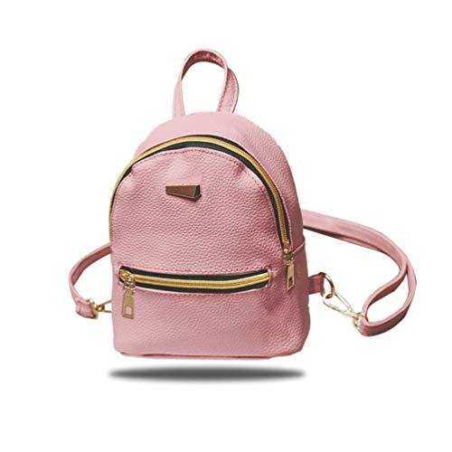 correas de de PU viaje cuero hombro cremallera Girl bolsa Sweet de las la mujeres moda femenino de bolsos bolso de de ajustables de Mini mochila 0U46qq8