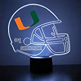 Miami Hurricanes Football Helmet Sports Fan Lamp