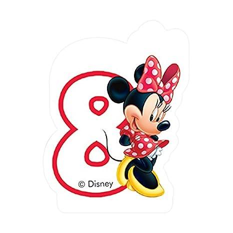 Partido Ênico Cafe Disney Minnie Mouse quinto cumpleaños Vela