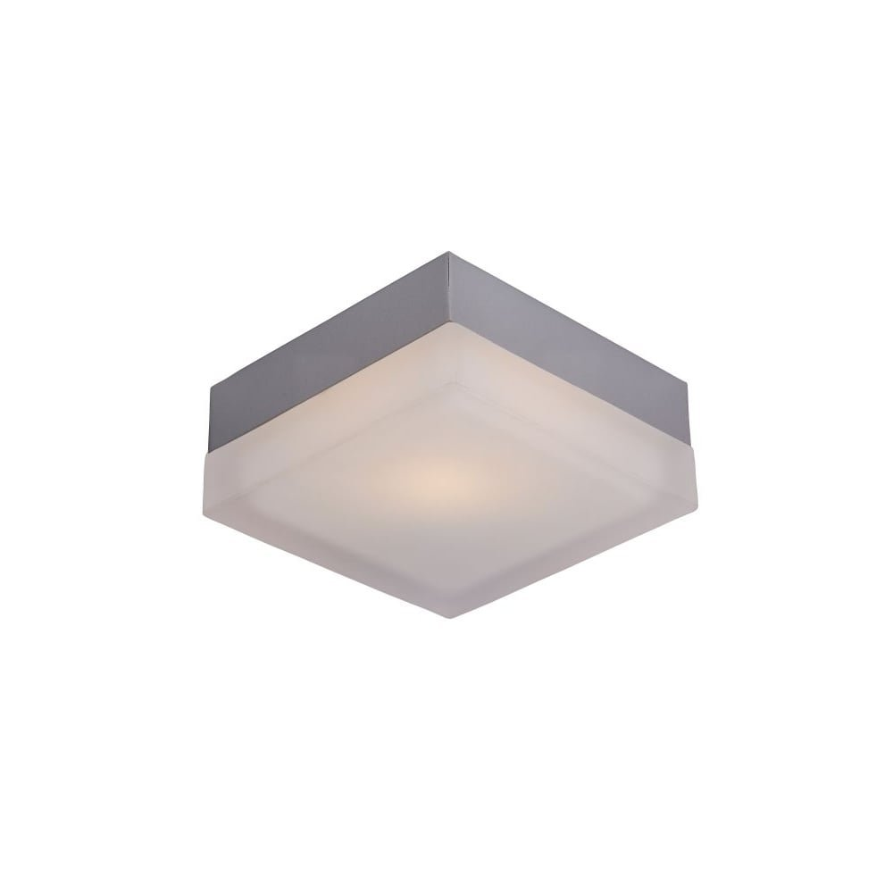 Lucide SPA Ceiling light Square L19/19/8.5 E27 IP44 Silve