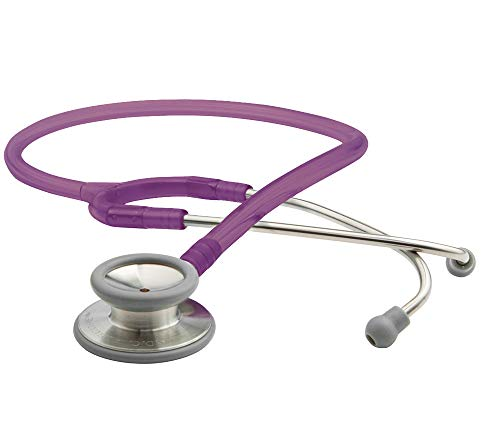 ADC Adscope 603 Clinician Stethoscope with Tunable AFD Technology, 31 inch Length, Amethyst