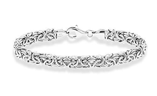 Miabella 925 Sterling Silver Italian Byzantine Bracelet for Women 6.5, 7, 7.25, 7.5, 8 Inch Handmade in Italy (8)