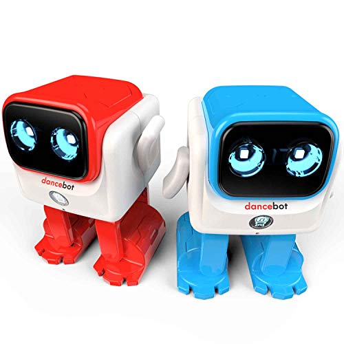 Echeers Kids Toys Dancing Robot for Boys and Girls, 2 Pack Educational Dance Robot Toys for Kids with Stereo Bluetooth Speakers, Rechargeable and Follow Music Beats Rhythm, All Age Children -Red, Blue by ECHEERS (Image #1)